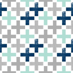 plus mint navy grey boys room boys nursery baby nursery plus swiss cross geo geometric