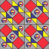 9x9 quilt square Grateful Dead pattern 7 design 2 BASIC