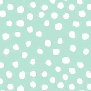 dots painted dots watercolor dots mint nursery baby kids