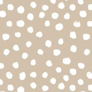 dots painted dots painterly painted khaki neutral almond brown dots abstract neutral nursery baby kids
