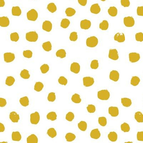 dots mustard  yellow golden nursery baby kids sweet nursery baby yellow bright happy  painted painterly