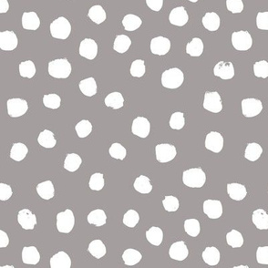 dots gray painted painterly dots spots dot grey kids nursery neutral monochrome