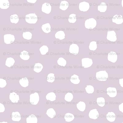 dots dot painted dot purple pastel girls baby girl nursery