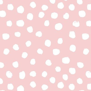 pink dots painted dots pink dot spot girls sweet pastel nursery baby abstract painted dots soft