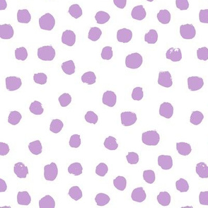 dots purple pastel lilac baby painted dots painterly abstract artist dots baby girls nursery