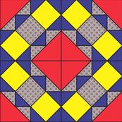 9x9 quilt square Grateful Dead pattern 8 design 2 MIRROR