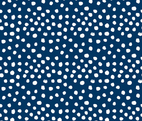 navy blue painted dots spots navy blue dots dot nursery painted abstract fabric by charlottewinter on Spoonflower - custom fabric