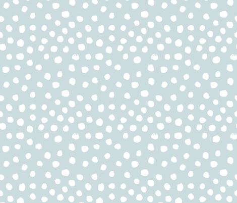 soft blue dots spots painted dot soft blue fabric by charlottewinter on Spoonflower - custom fabric