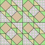 9x9 quilt square Grateful Dead pattern 11 design 1 BASIC