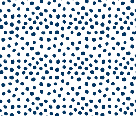 navy dots painted dot spots painterly abstract nursery baby navy blue fabric by charlottewinter on Spoonflower - custom fabric