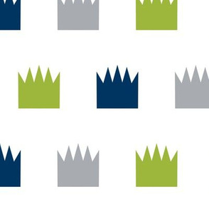 crowns crown lime green navy blue grey custom