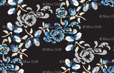 Japanese Garden Black_Miss Chiff Designs