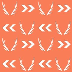 antler antlers orange chevron kids antlers buck