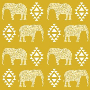elephant geo geometric baby nursery mustard yellow gender neutral elephant nursery