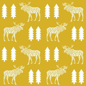 moose mustard yellow trees kids baby forest baby nursery sweet kids