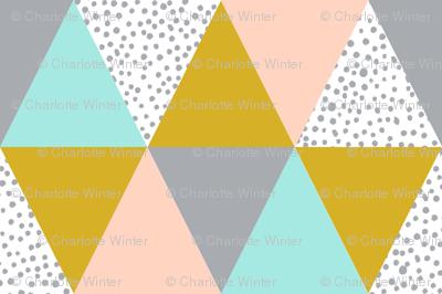 triangle cheater quilt baby kids grey mustard blush mint kids  baby blanket baby bedding crib sheet babies