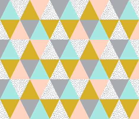 triangle cheater quilt baby kids grey mustard blush mint kids  baby blanket baby bedding crib sheet babies fabric by charlottewinter on Spoonflower - custom fabric