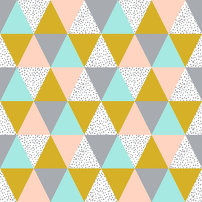 triangle cheater quilt baby kids grey mustard blush mint kids  baby blanket baby bedding crib sheet babies