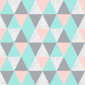 triangle cheater blanket baby quilt kids baby pink mint grey baby nursery sweet minky blanket crib sheet babies