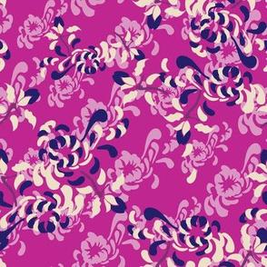 Kabuki Large Floral Pink_Miss Chiff Designs