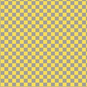 Whimsy Coordinate - grey/yellow checks