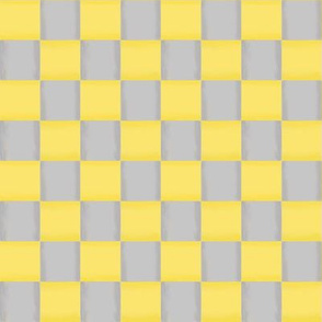 Whimsy Coordinate - Woven Digital Ribbons of Yellow and Grey