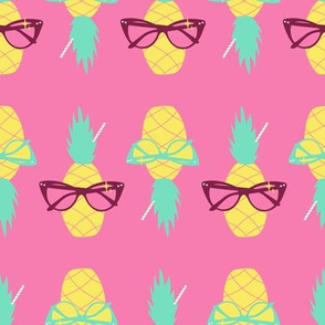 Sunnies and Pineapples-Pink