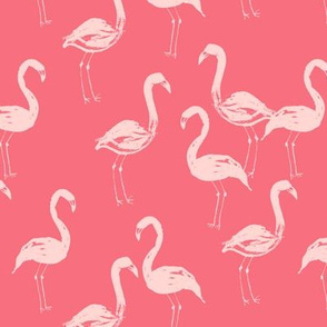 flamingo bird painted tropical pink girly girls paint