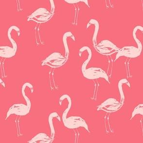 flamingo bird painted tropical pink girly girls paint
