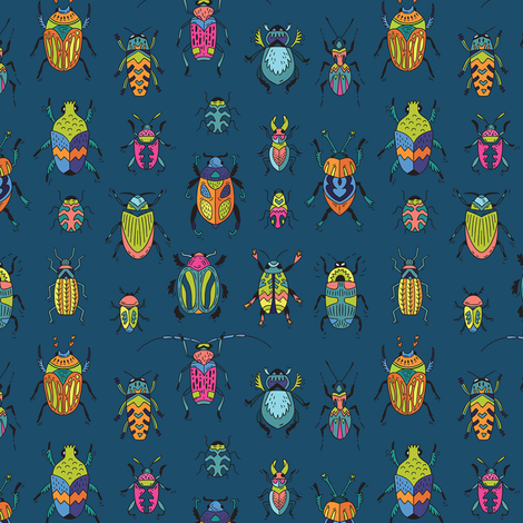 Bugs fabric by penguinhouse on Spoonflower - custom fabric