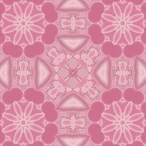 Warm Pink Kaleidoscope Flowers