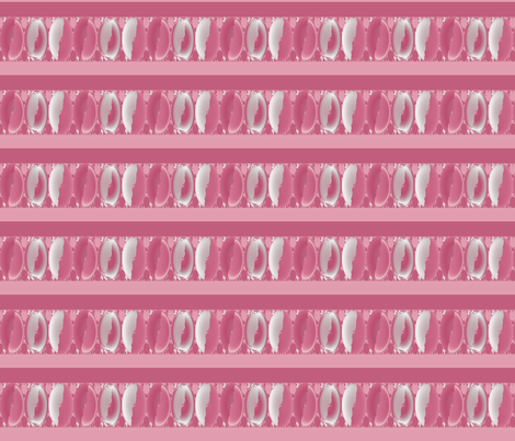 Warm Pink Ovals and Stripes fabric by gingezel on Spoonflower - custom fabric