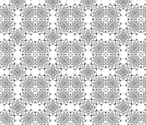 Colour Me Water Lily Bloom Kaleidoscope Pattern fabric by inspired_me_studio on Spoonflower - custom fabric