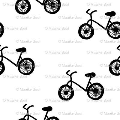 Little chap cross bike print black and white for cool boys and hipster men