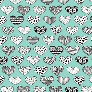 Geometric texture hearts love valentine wedding theme scandinavian style mint
