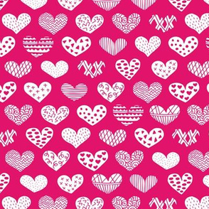 Geometric texture hearts love valentine wedding theme scandinavian style pink