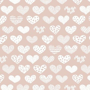 Geometric texture hearts love valentine wedding theme scandinavian style beige