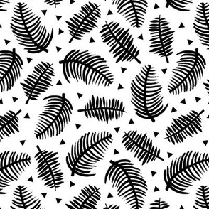 Tropical geometric summer pop garden leaves brazil jungle black and white
