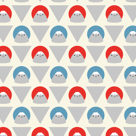 Mt Fuji Dots fabric by marcelinesmith on Spoonflower - custom fabric