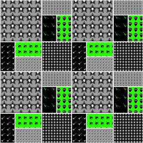 9x9 quilt square Skulls pattern 4 design 1 BASIC