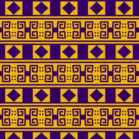 Scrolls Diamonds 2 Gold Violet fabric by eve_catt_art on Spoonflower - custom fabric
