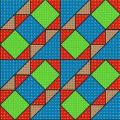 9x9 quilt square Grateful Dead pattern 2 design 3 BASIC