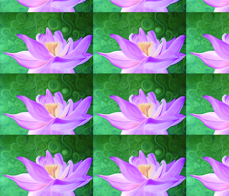 Lotus Flower Wallpaper Jade Ces Spoonflower