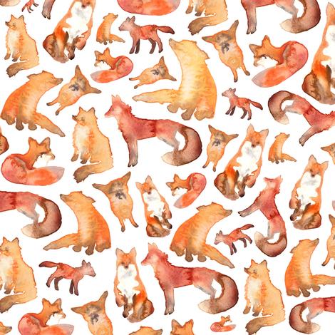 Foxes fabric by elena_o'neill_illustration_ on Spoonflower - custom fabric