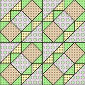 9x9 quilt square Grateful Dead pattern 11 design 3 BASIC