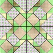 9x9 quilt square Grateful Dead pattern 11 design 4 MIRROR
