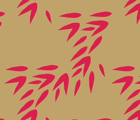 Japanese Leaves fabric by kellyparkersmith on Spoonflower - custom fabric