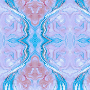 Marbleized Oil in Blue and Lavender