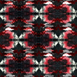 Abstract Darkness in Red White Black