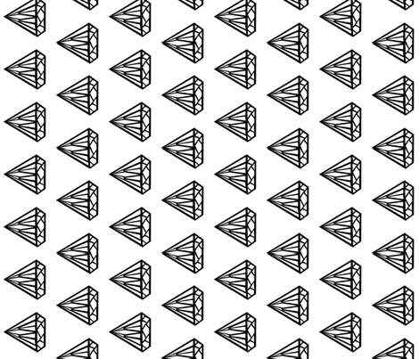 diamond black and white jewel gem railroad fabric by charlottewinter on Spoonflower - custom fabric